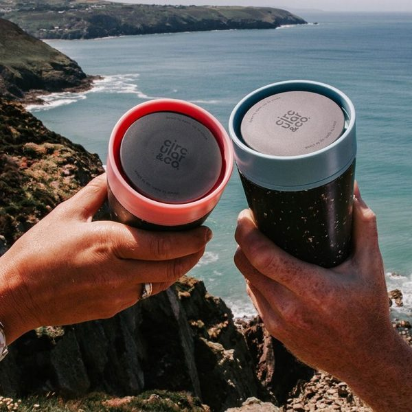 The Circular Cup, the world's first, 100% leakproof reusable coffee cup, made from single-use paper cups.